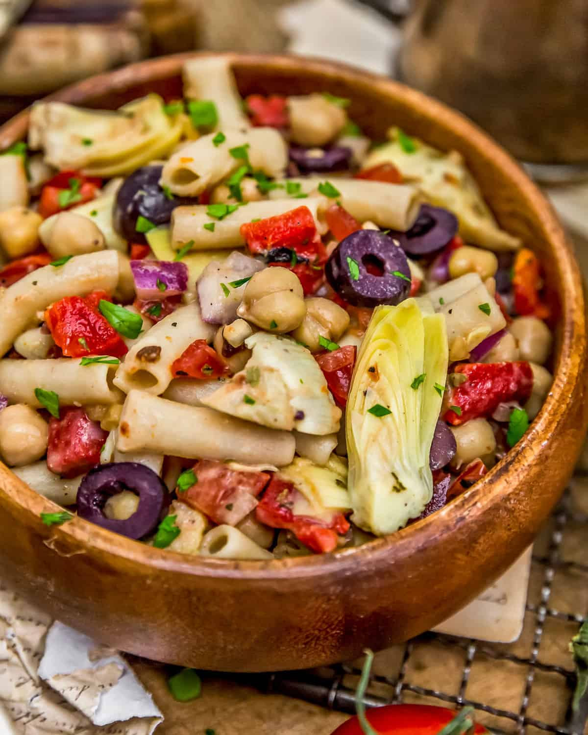 Bowl of Mediterranean Pasta Salad