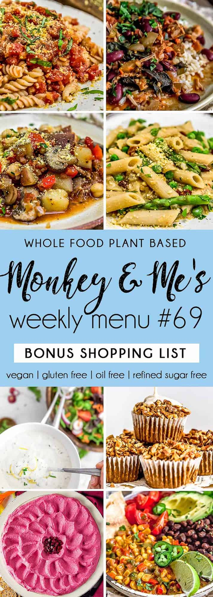 Monkey and Me's Menu 69 featuring 8 recipes