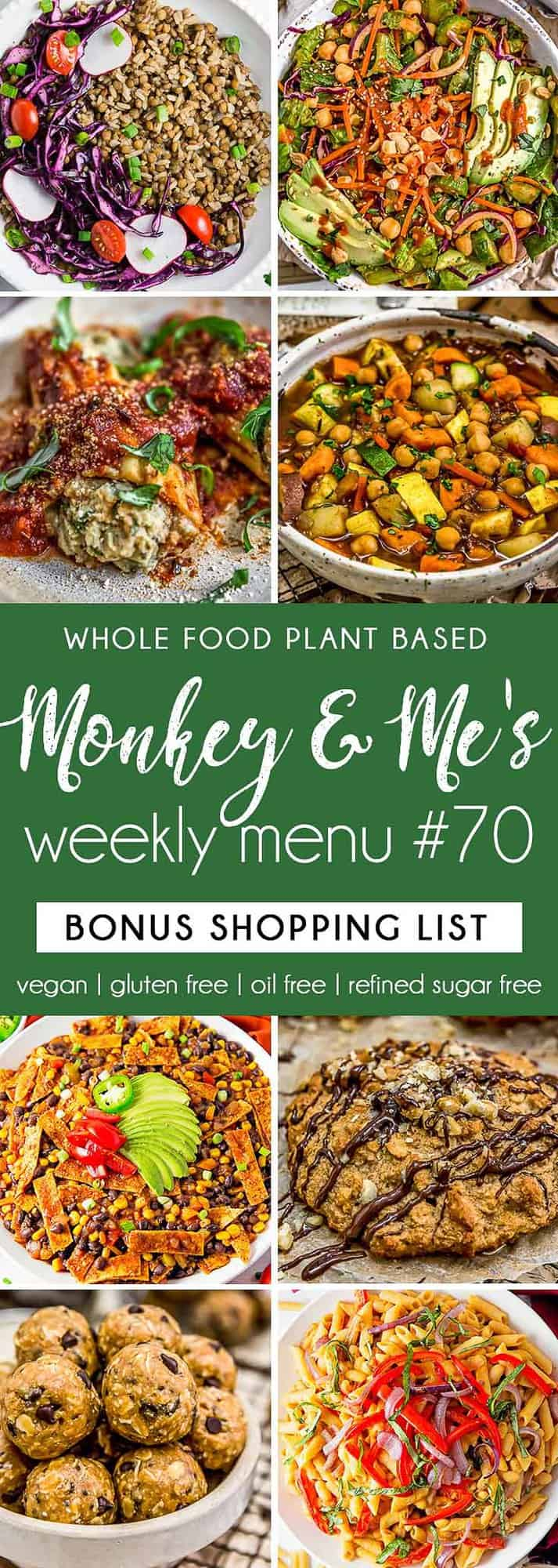 Monkey and Me's Menu 70 featuring 8 recipes