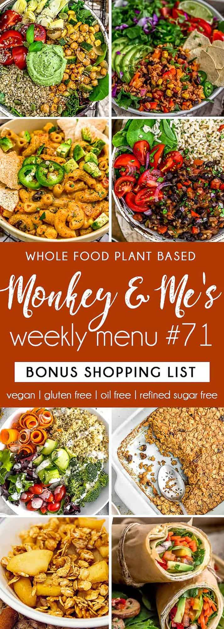 Monkey and Me's Menu 71 featuring 8 recipes