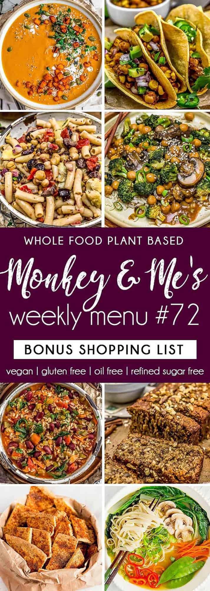 Monkey and Me's Menu 72 featuring 8 recipes