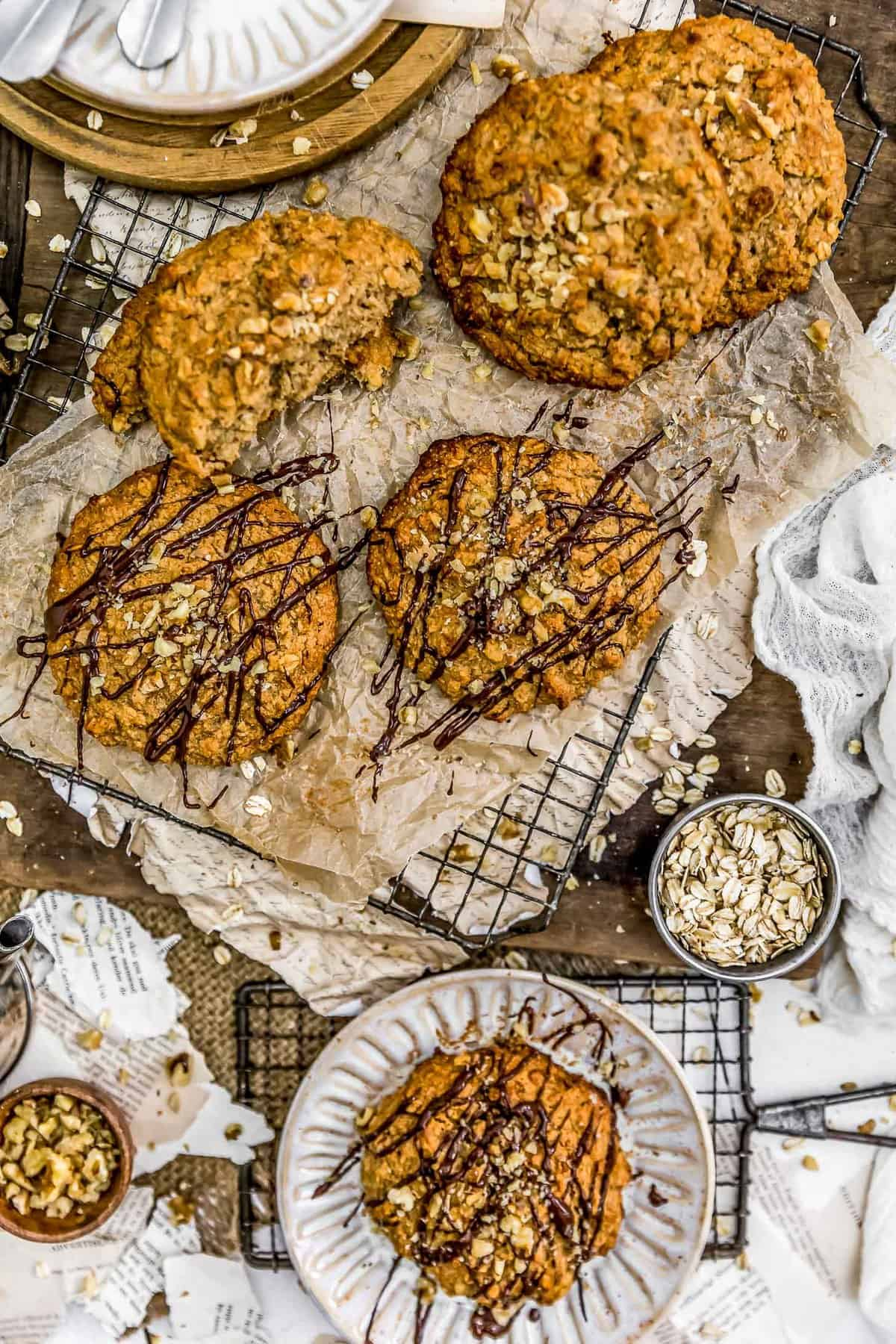 Tablescape of Peanut Butter Banana Cookie Scones