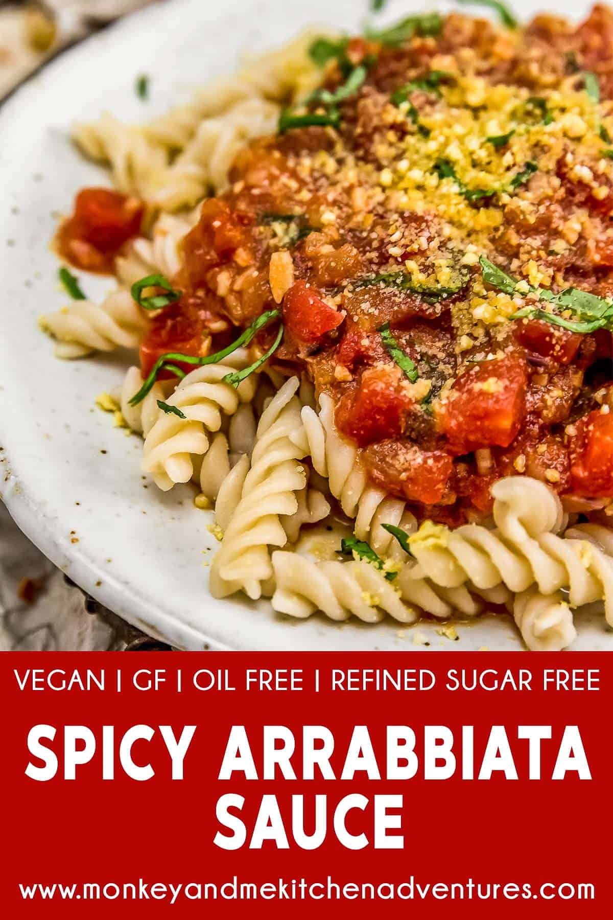 Spicy Arrabbiata Sauce with text description