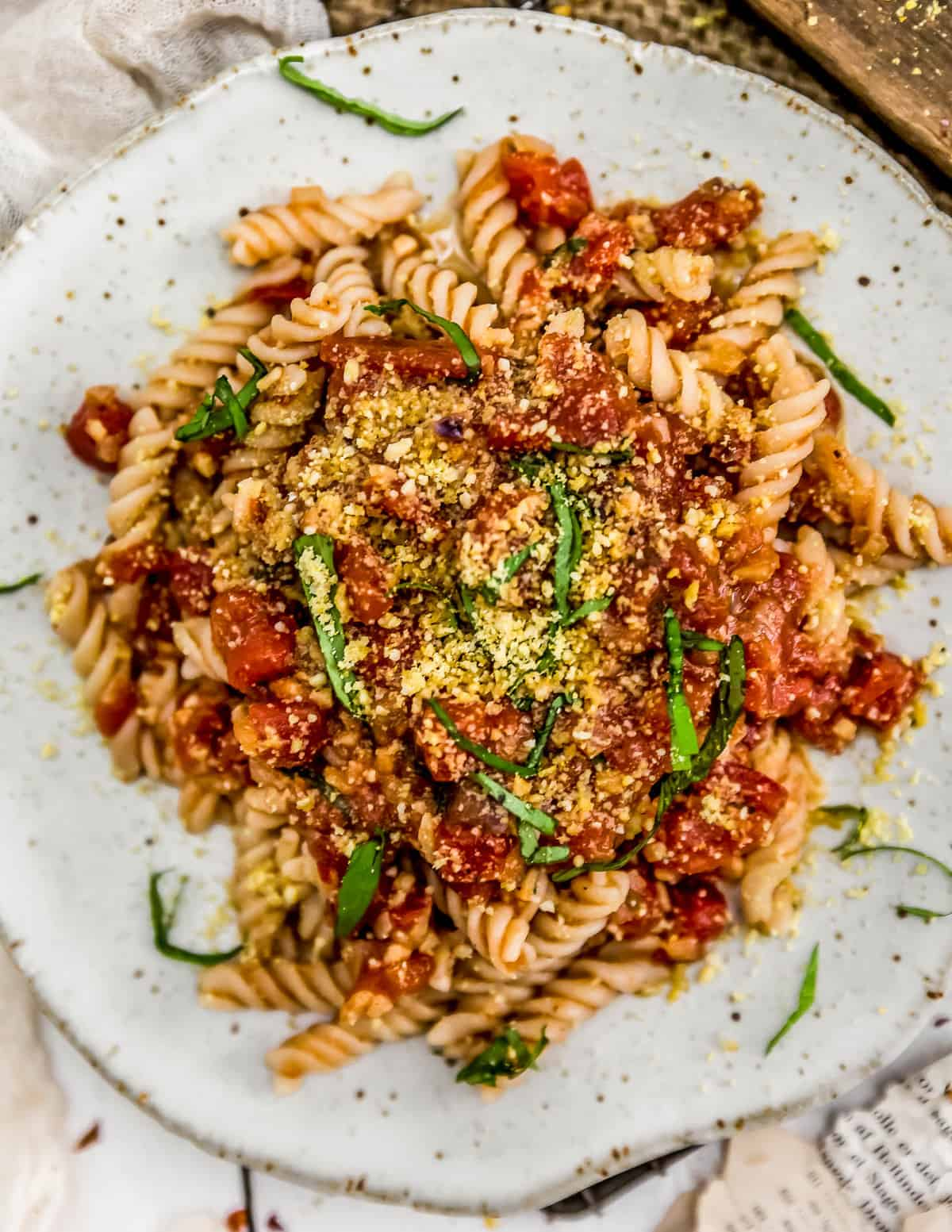 Spicy Arrabbiata Sauce with pasta