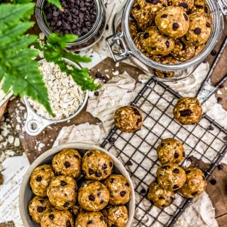 Tablescape of Vegan No-Bake Lactation Cookies