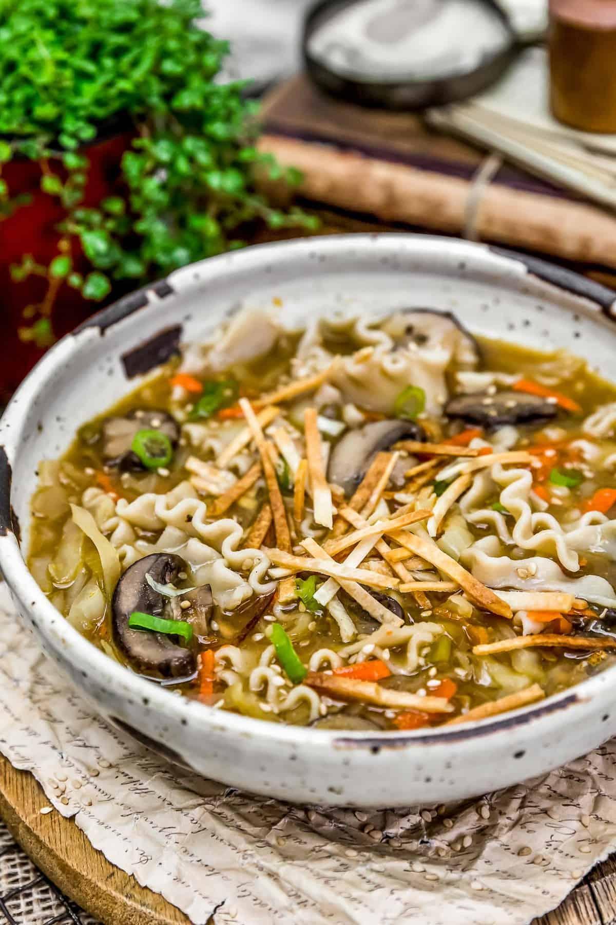 Deconstructed Vegan Wonton Soup