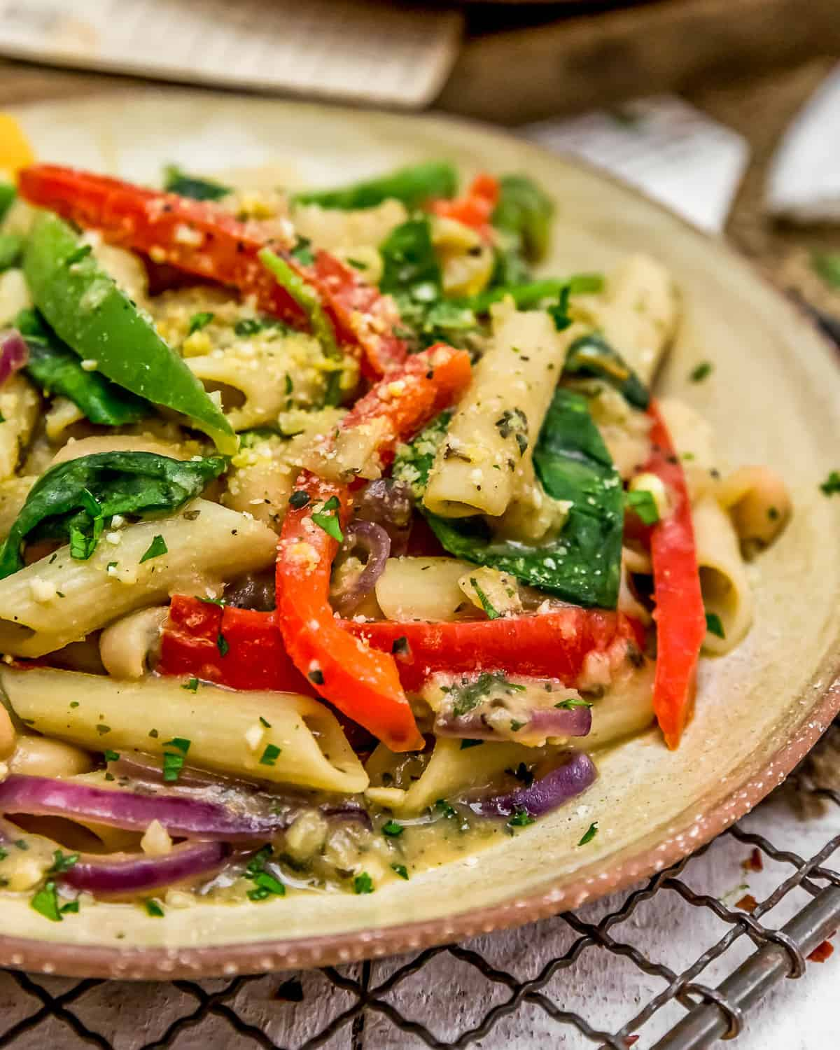 Close up of Italian Pasta and Peppers