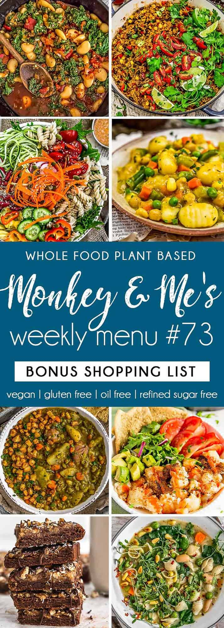 Monkey and Me's Menu 73 featuring 8 recipes