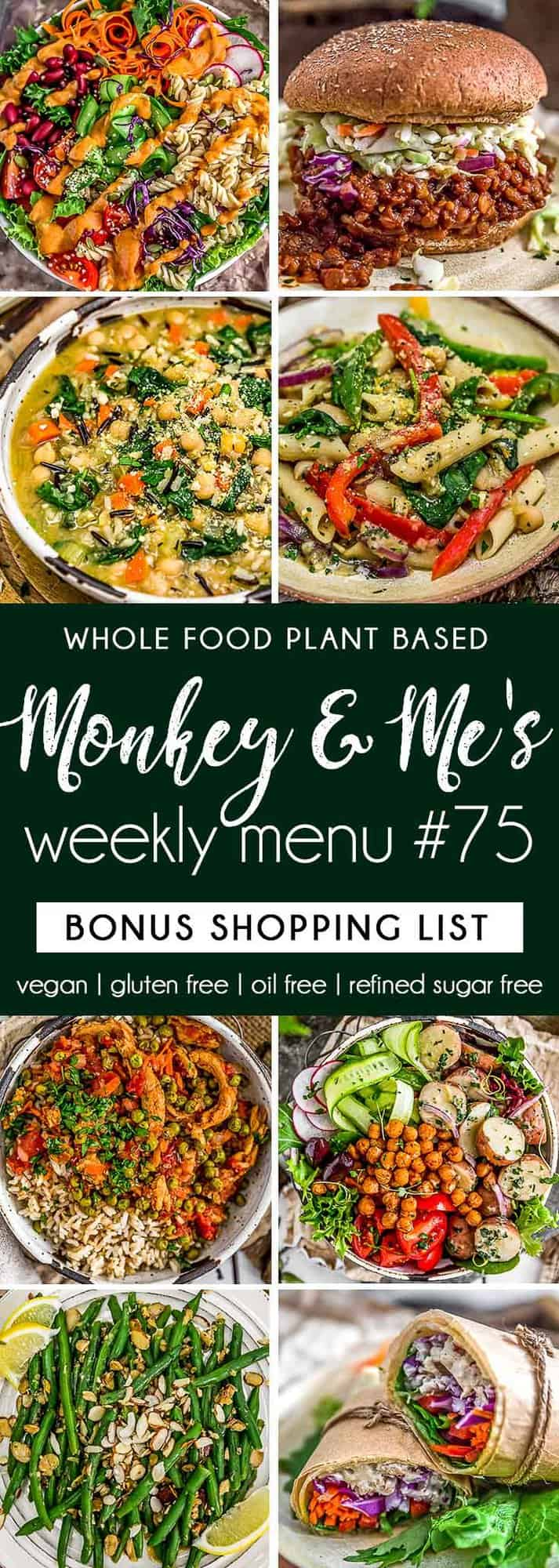 Monkey and Me's Menu 75 featuring 8 recipes