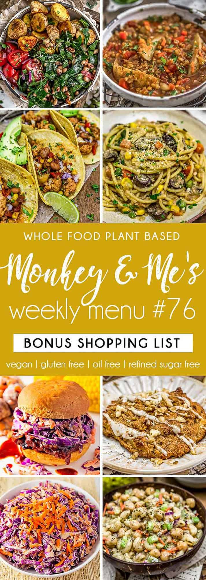 Monkey and Me's Menu 76 featuring 8 recipes