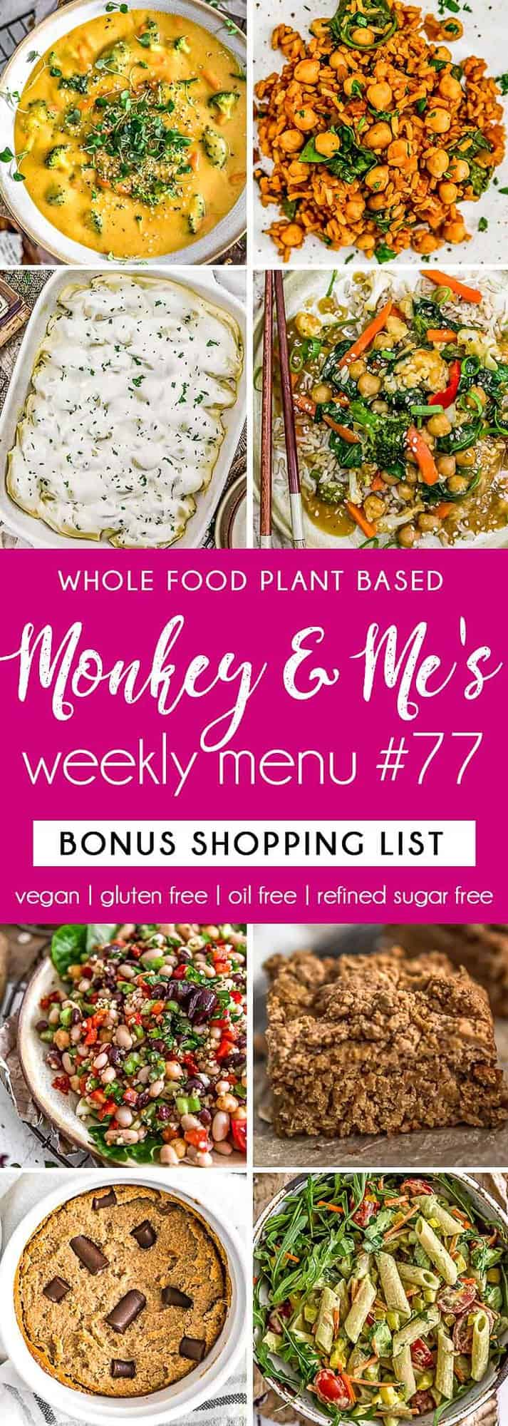 Monkey and Me's Menu 77 featuring 8 recipes
