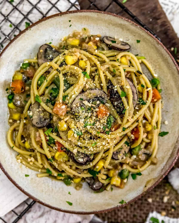 Plated Vegan Veggie Tetrazzini