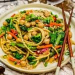 Veggie Lo Mein on a plate