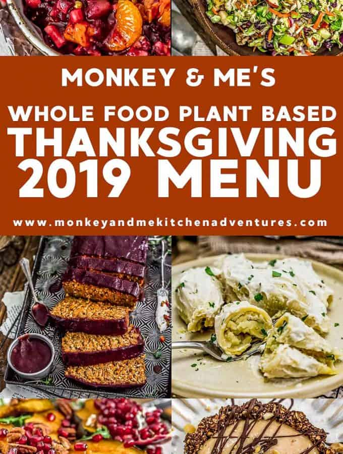 2019 Whole Food Plant Based Thanksgiving Menu Text Description