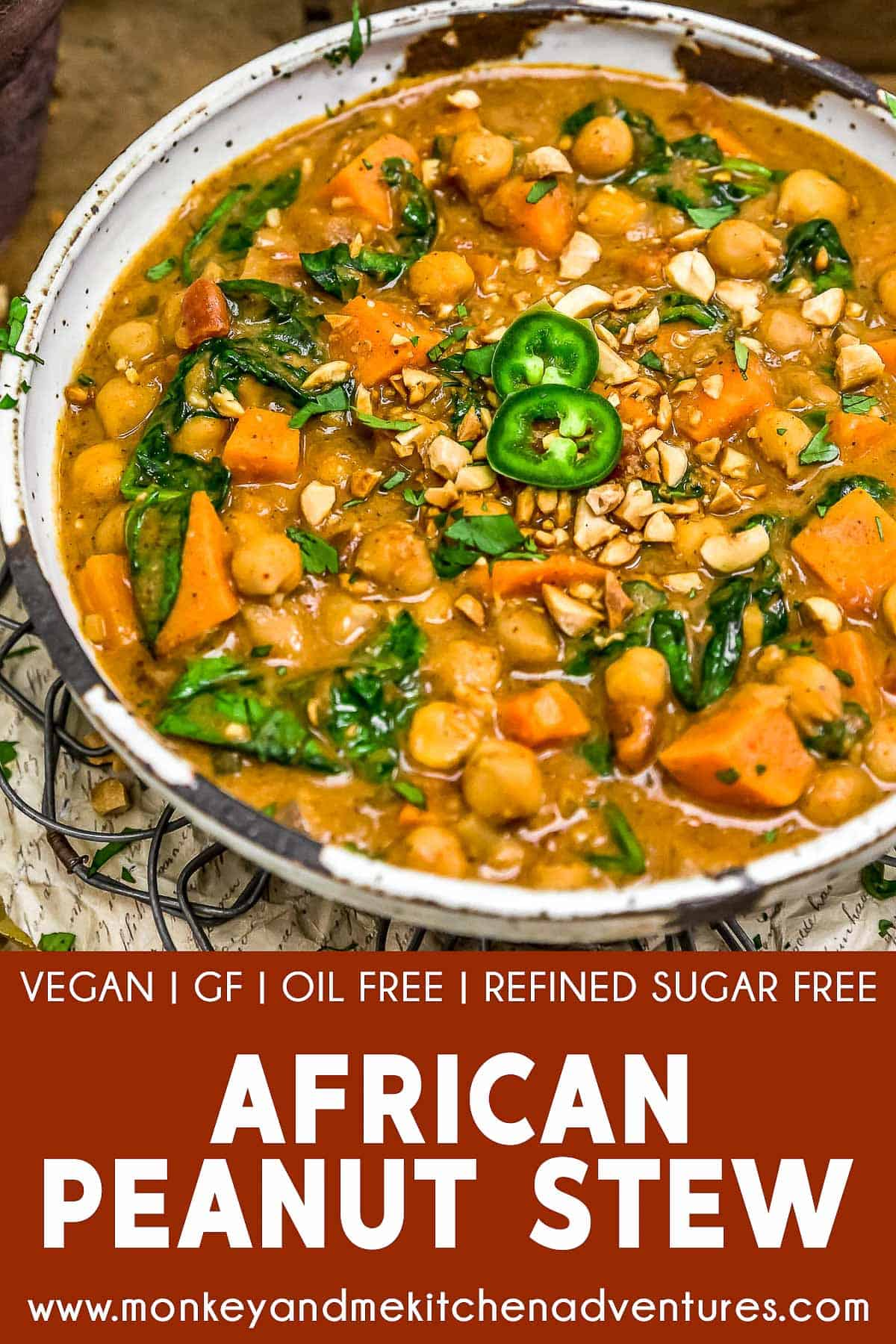 African Peanut Stew with text description