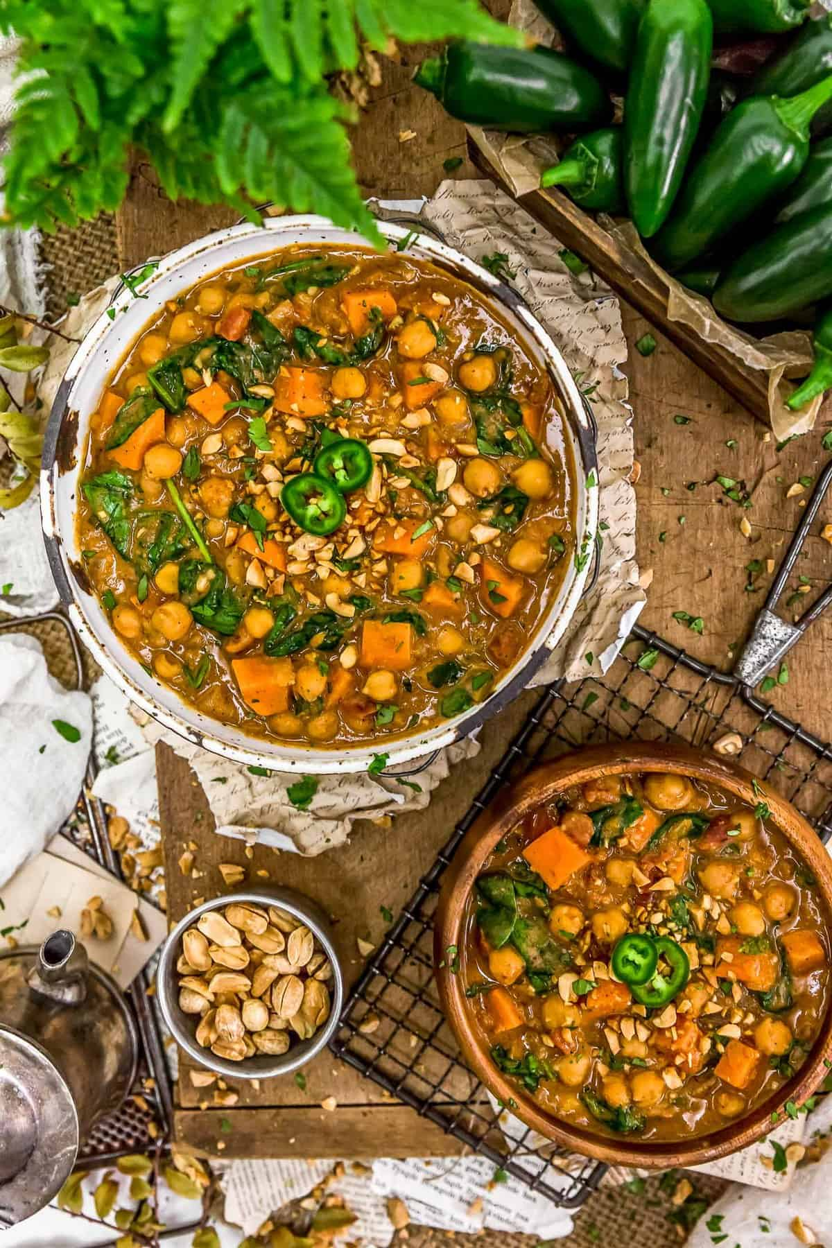 Tablescape of African Peanut Stew