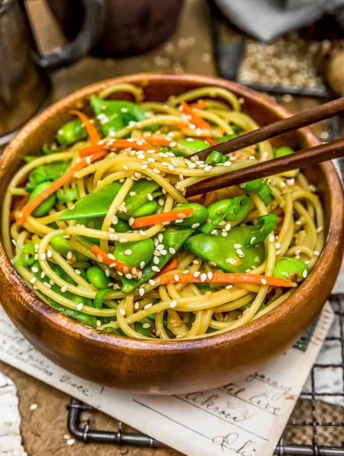 Eating Fast and Easy Sesame Noodles