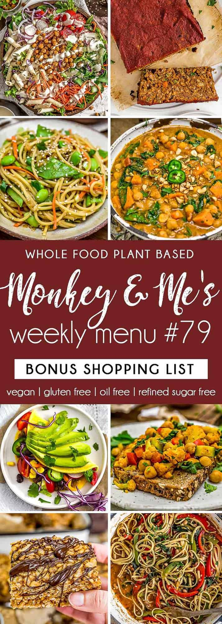 Monkey and Me's Menu 79 featuring 8 recipes