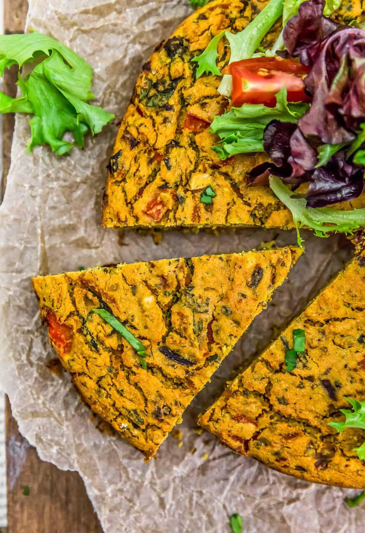Slice of Vegan Italian Frittata