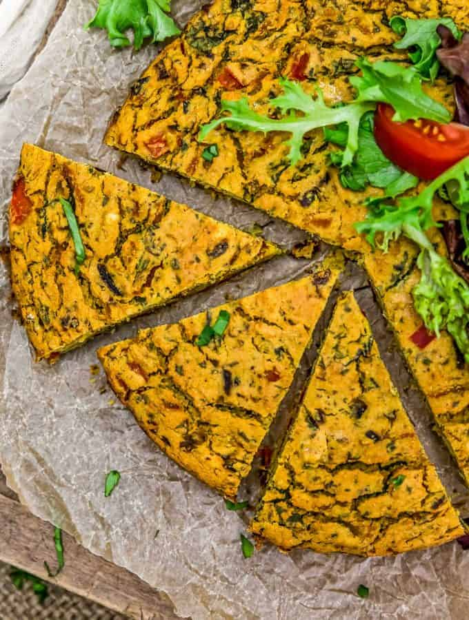 Sliced Vegan Italian Frittata