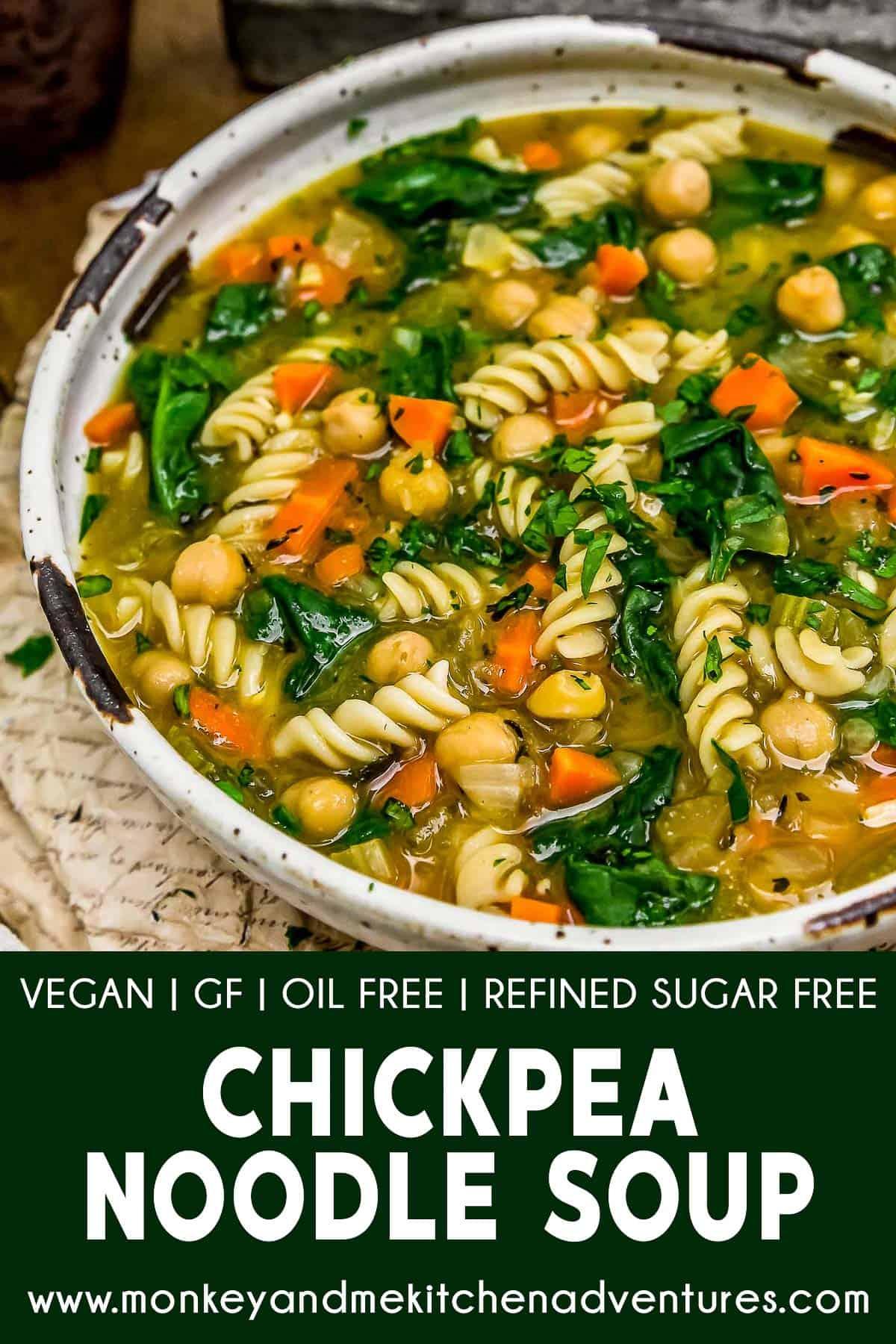 Chickpea Noodle Soup with text description