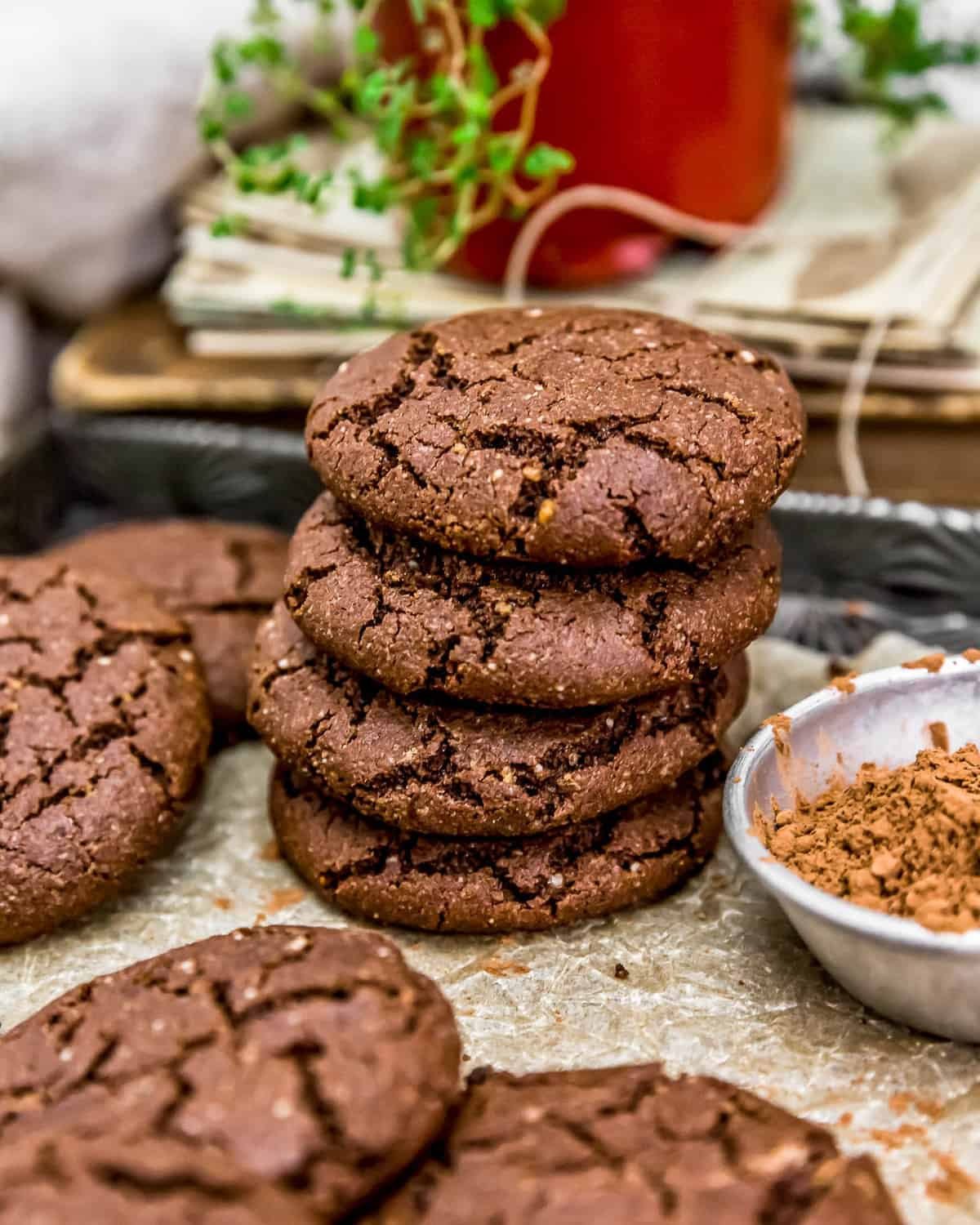 Stack of Mexican Hot Chocolate Cookies