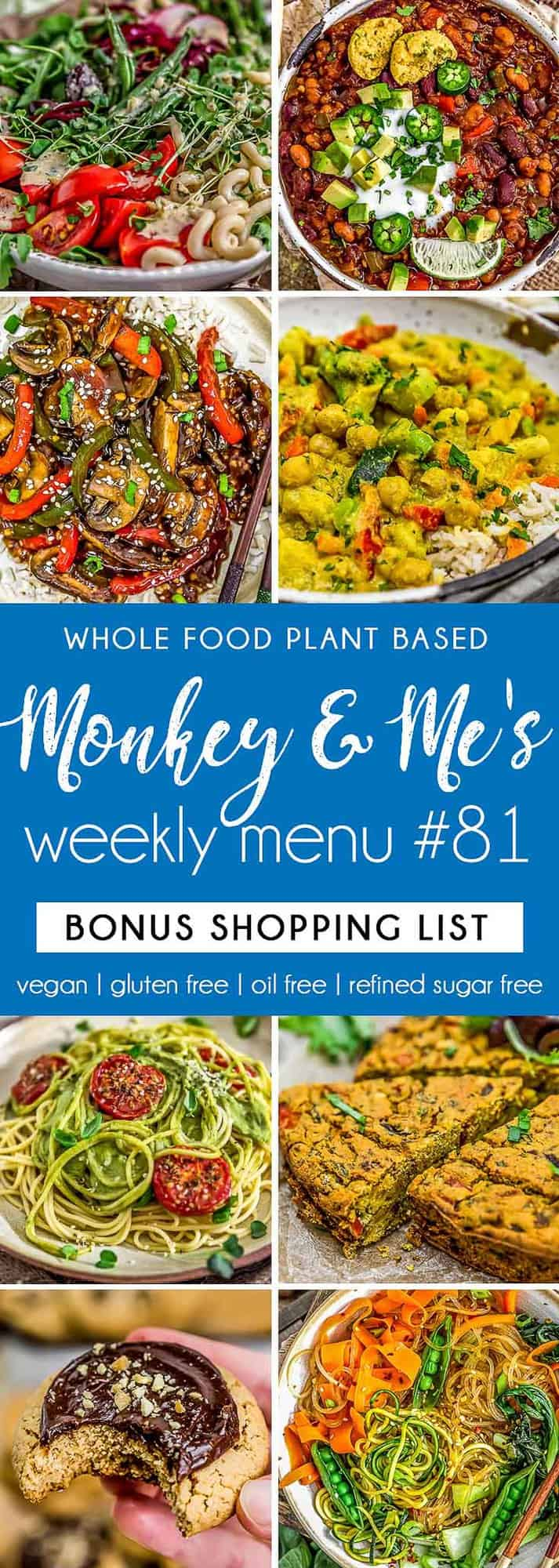 Monkey and Me's Menu 81 featuring 8 recipes