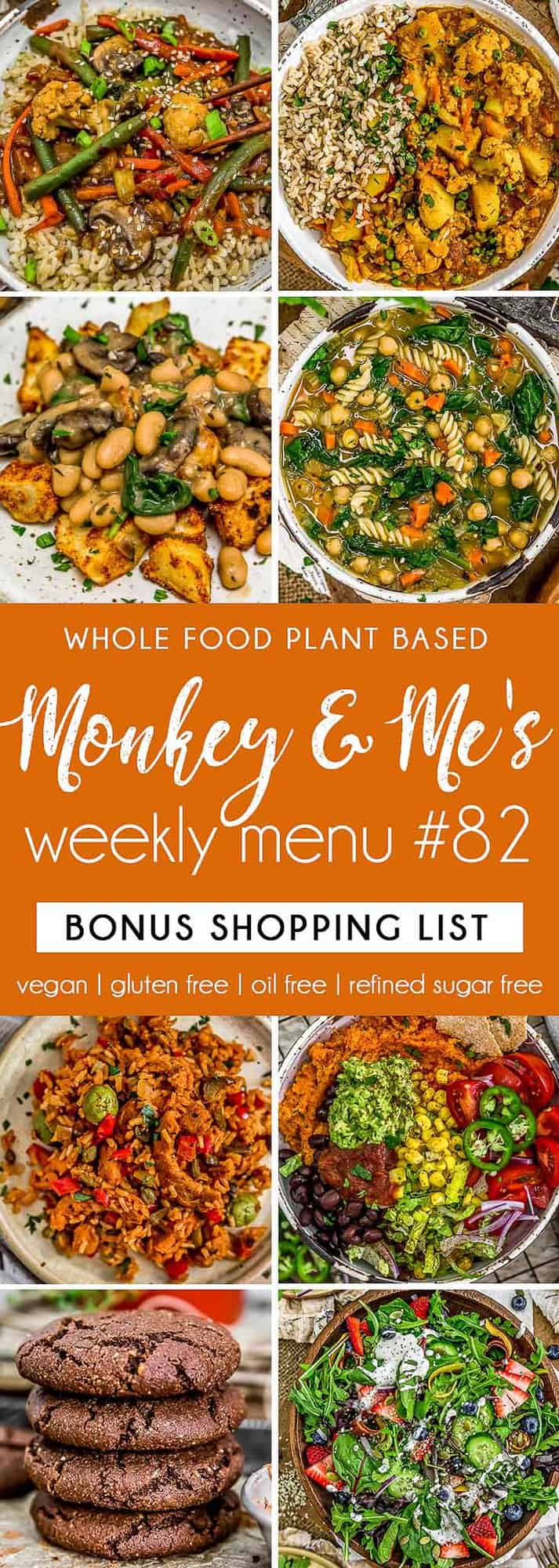 Monkey and Me's Menu 82 featuring 8 recipes