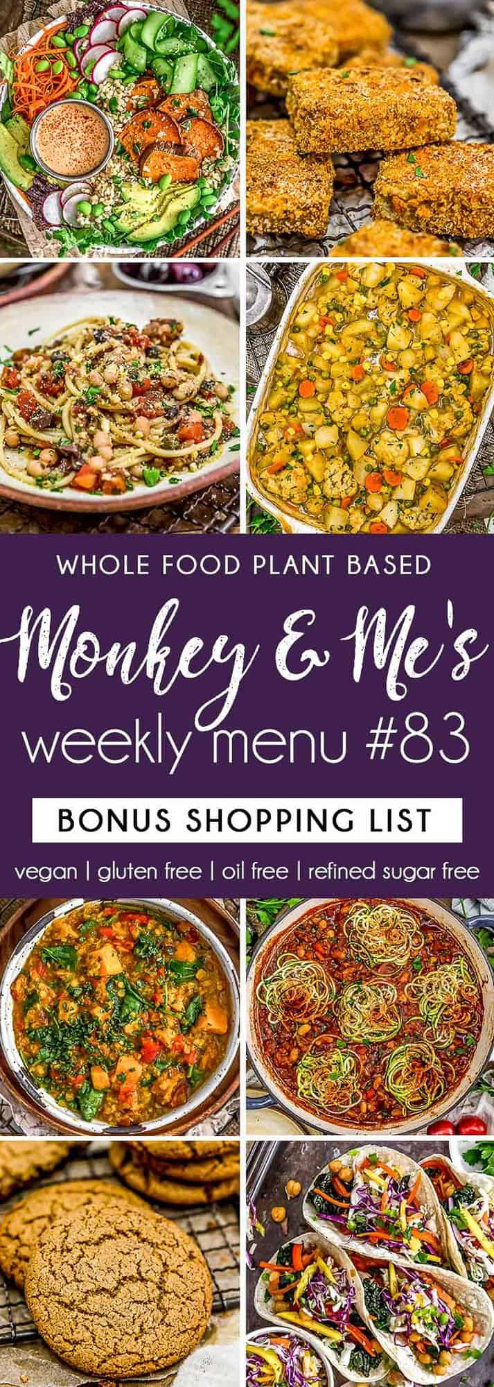 Monkey and Me's Menu 83 featuring 8 recipes