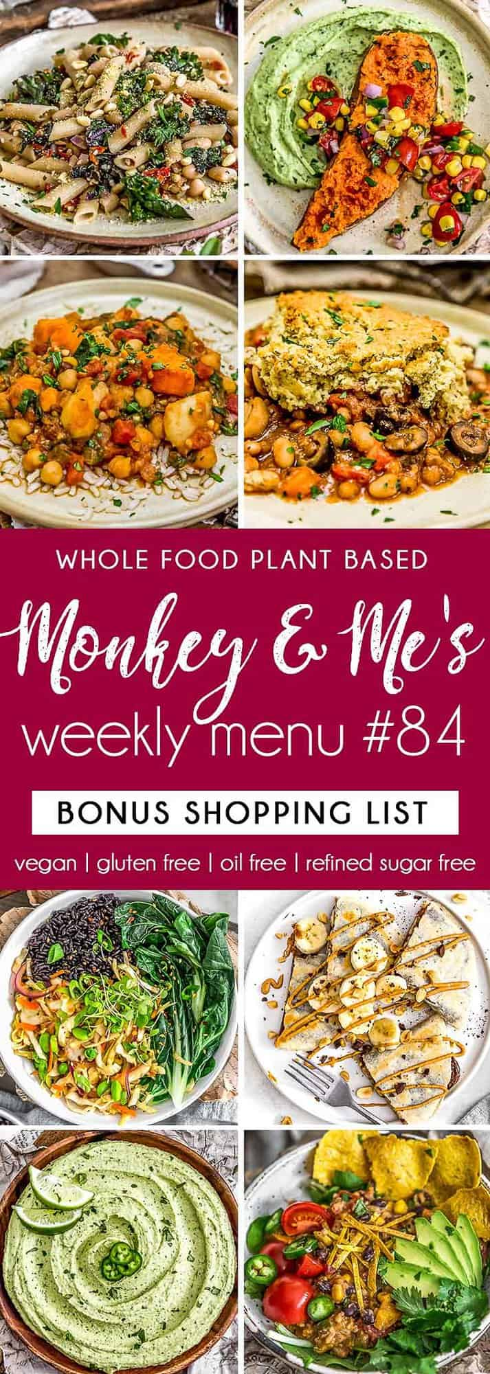 Monkey and Me's Menu 84 featuring 8 recipes