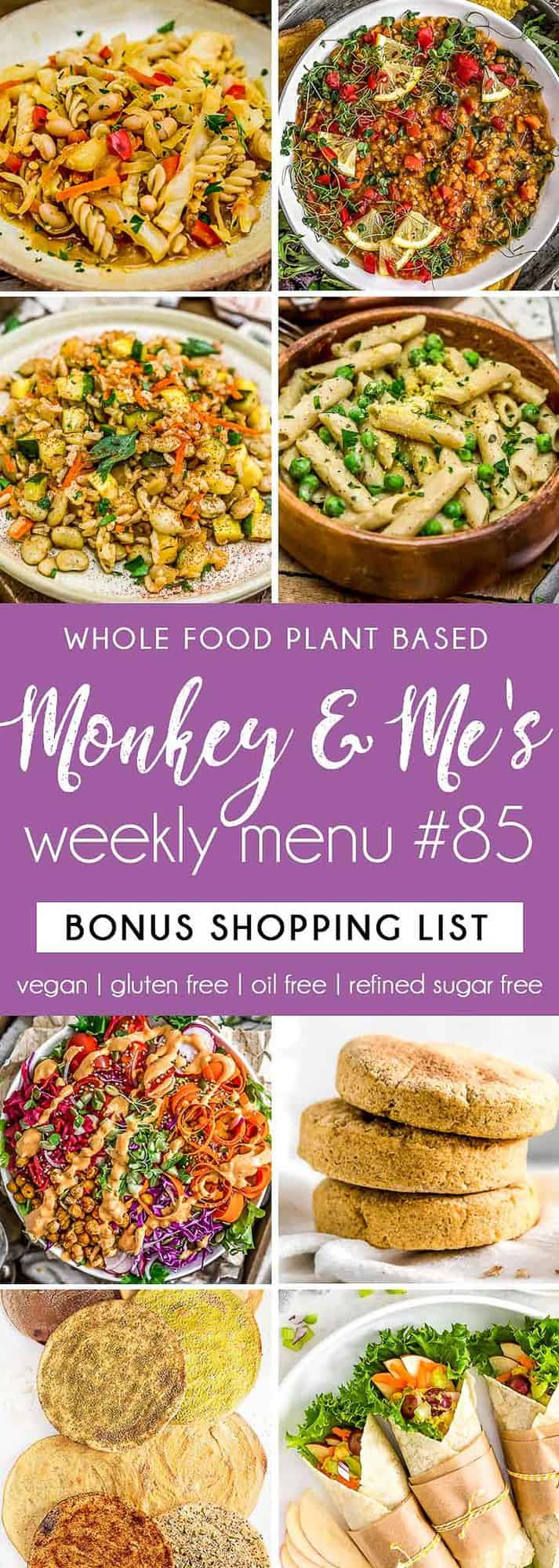 Monkey and Me's Menu 85 featuring 8 recipes