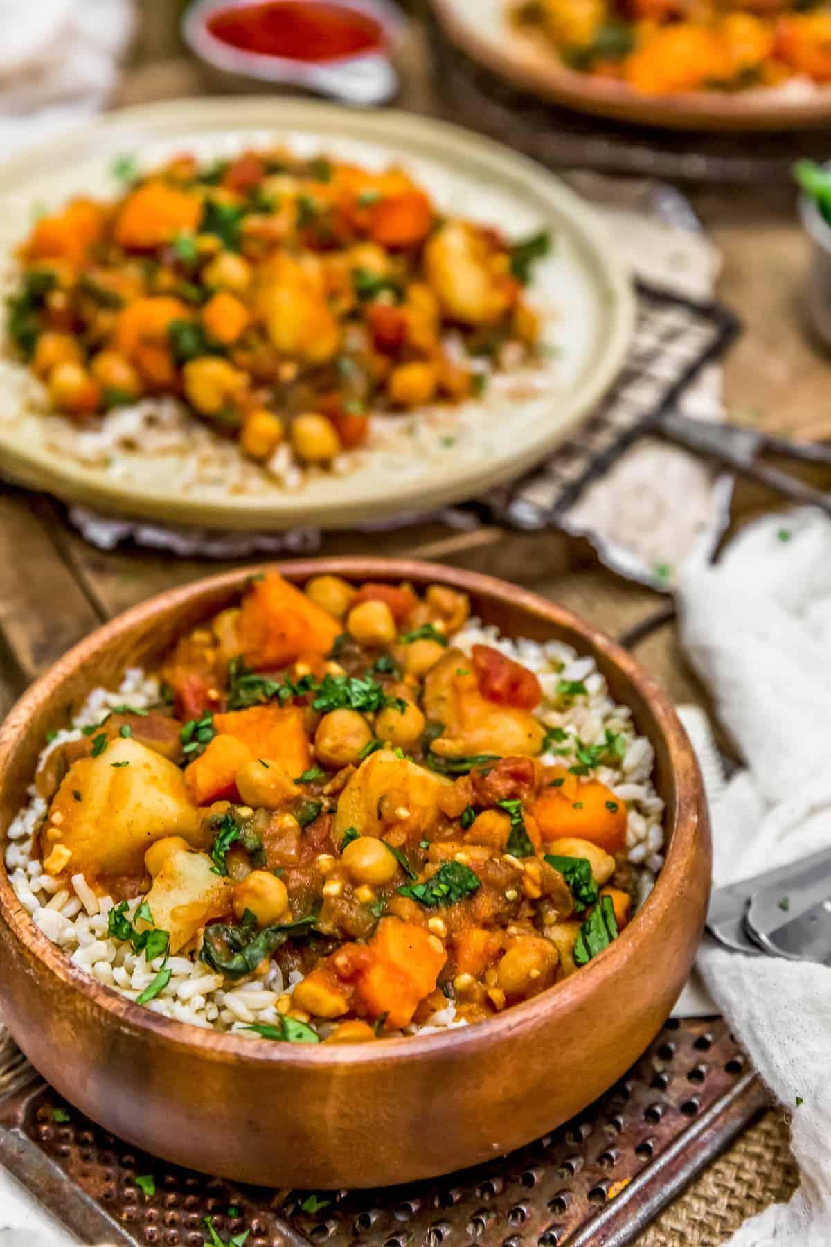 Plated Potato Vindaloo