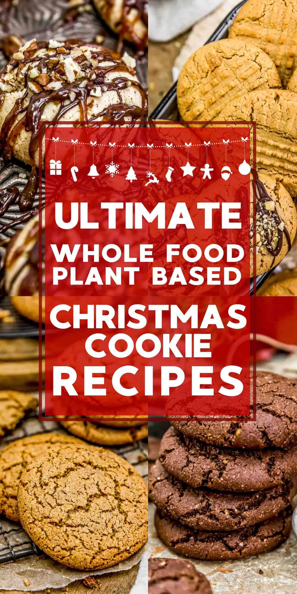 Whole Food Plant Based Christmas Cookie Recipes Text Description