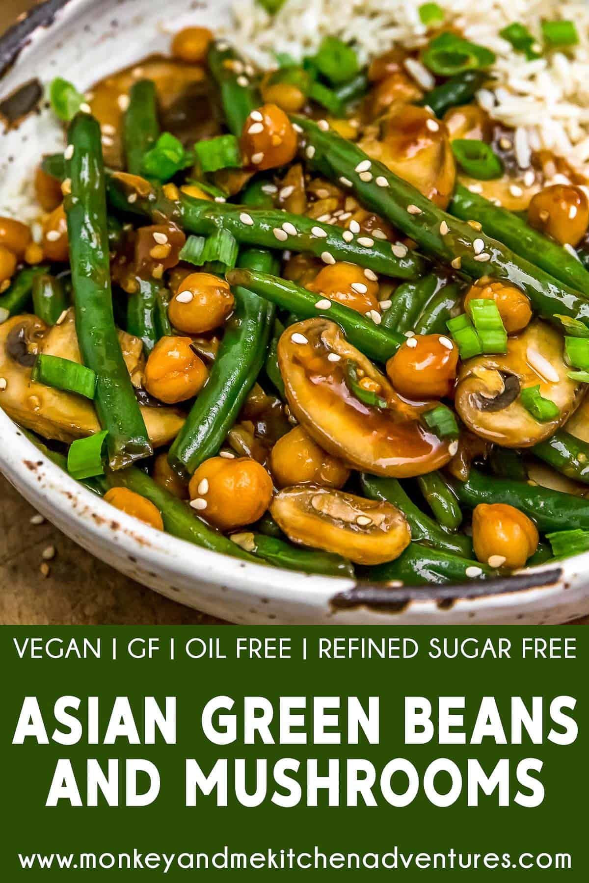 Asian Green Beans and Mushrooms with text description