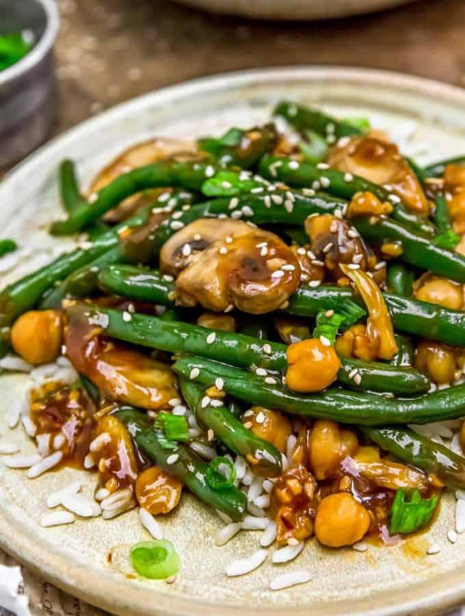 Asian Green Beans and Mushrooms