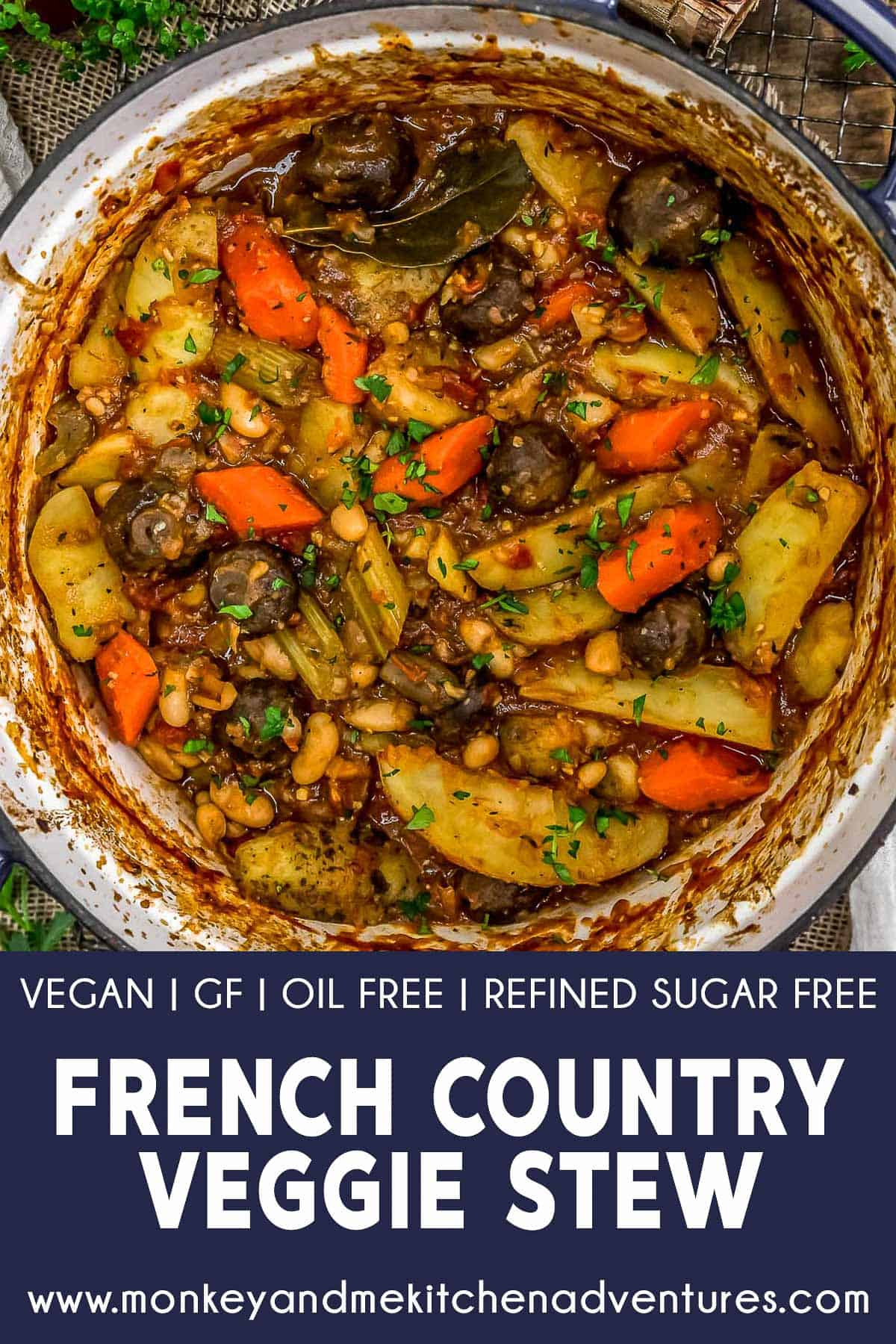 French Country Veggie Stew with text description