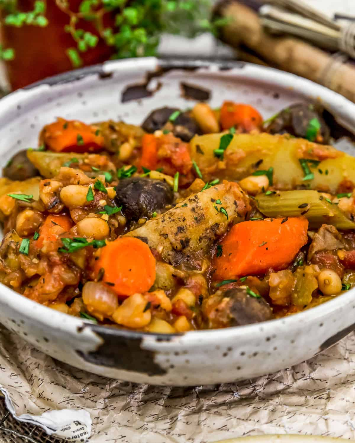 Close up of French Country Veggie Stew