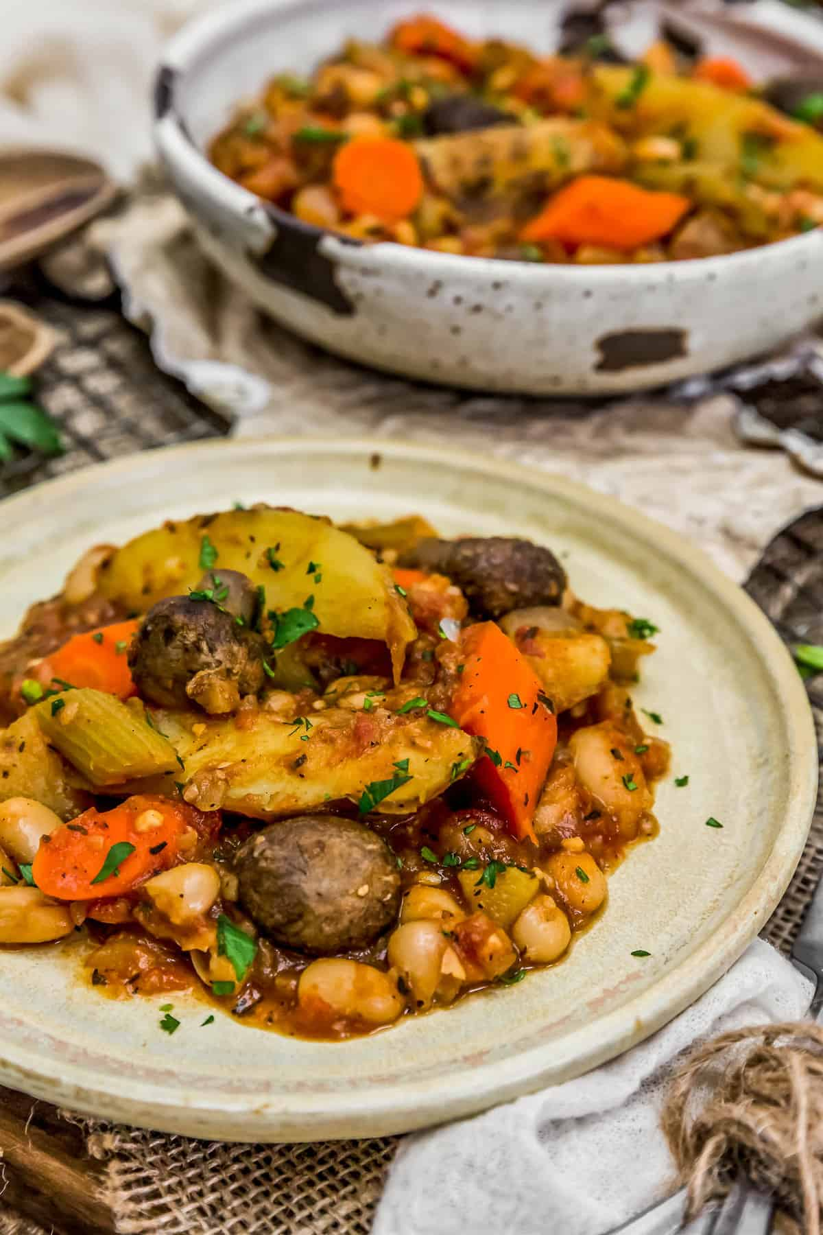 Plated French Country Veggie Stew