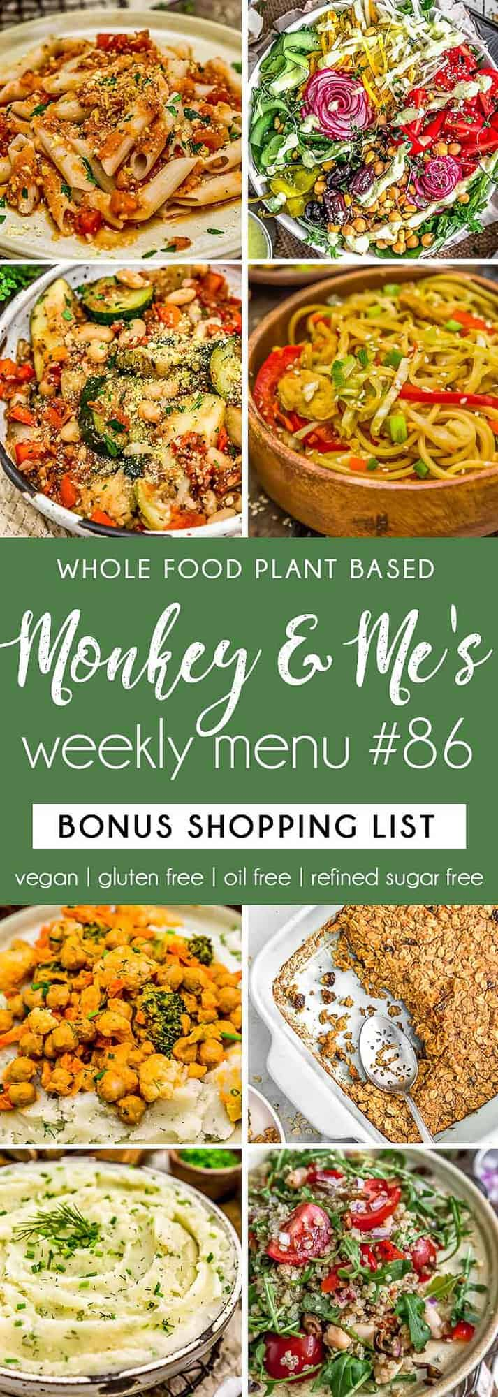 Monkey and Me's Menu 86 featuring 8 recipes