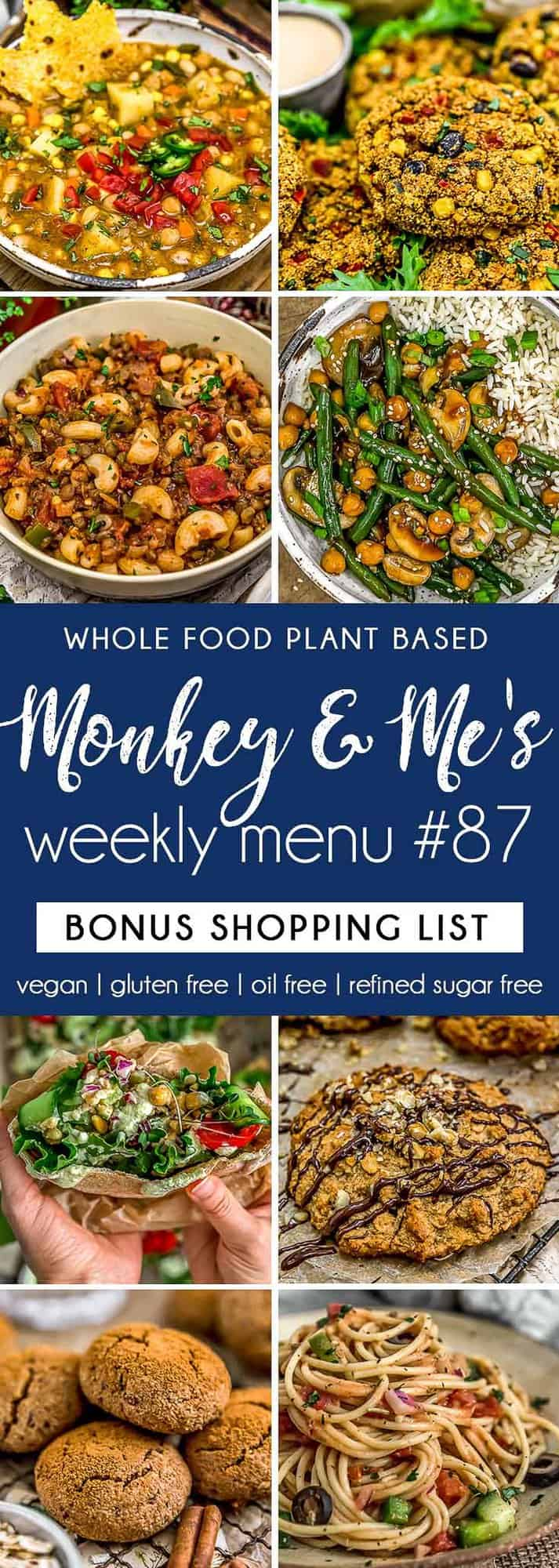 Monkey and Me's Menu 87 featuring 8 recipes