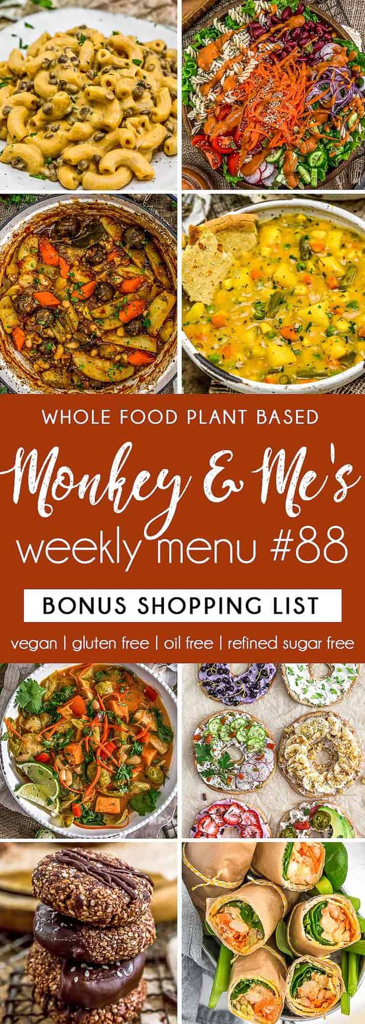 Monkey and Me's Menu 88 featuring 8 recipes