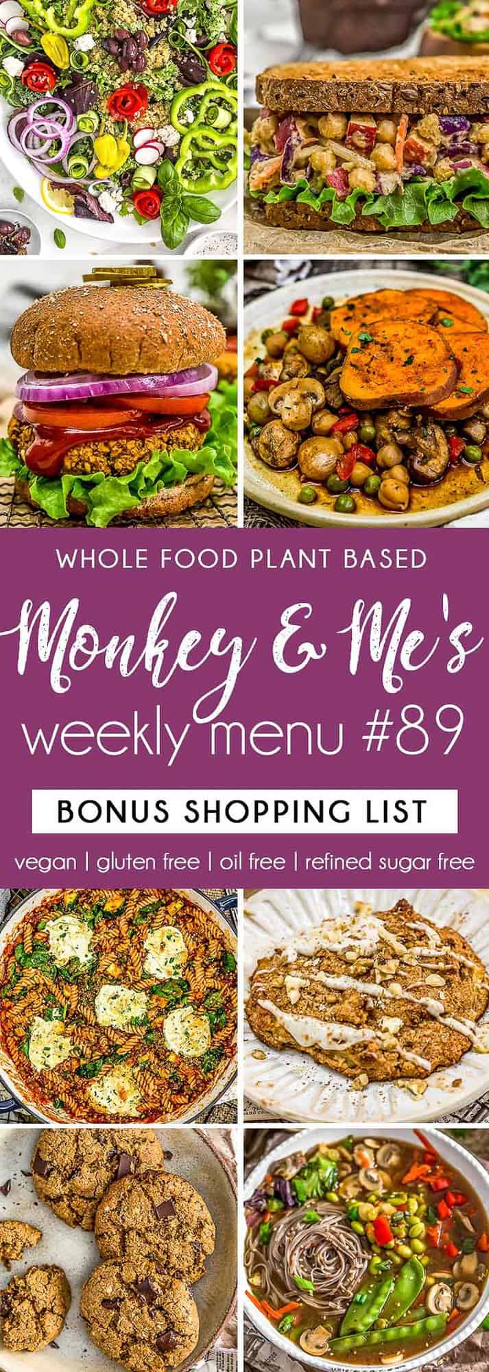 Monkey and Me's Menu 89 featuring 8 recipes