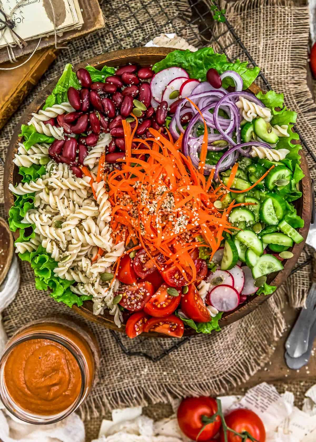 Oil Free French Dressing with salad