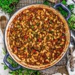 Skillet of Vegan Italian American Goulash