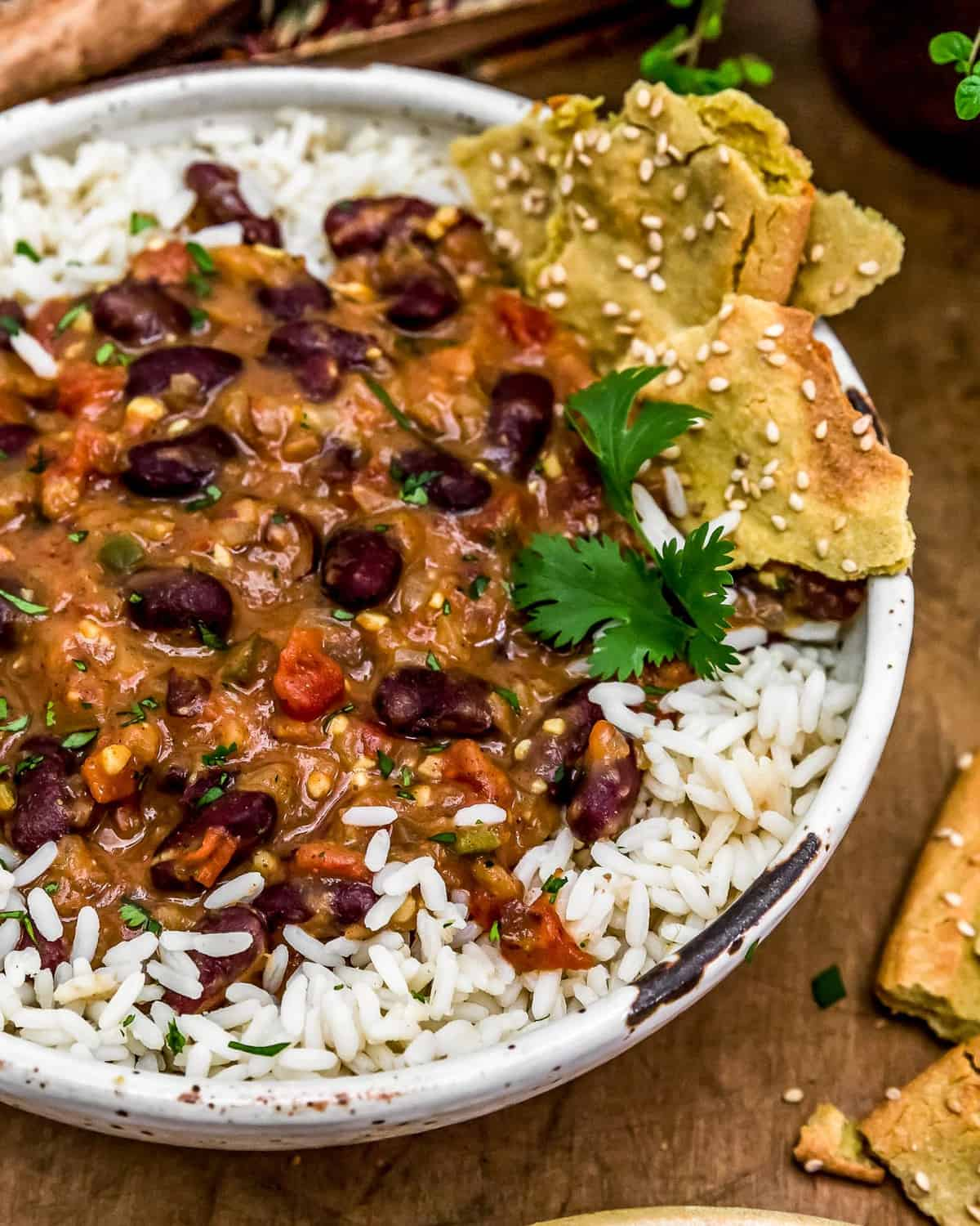 Close up of Easy Kidney Bean Curry