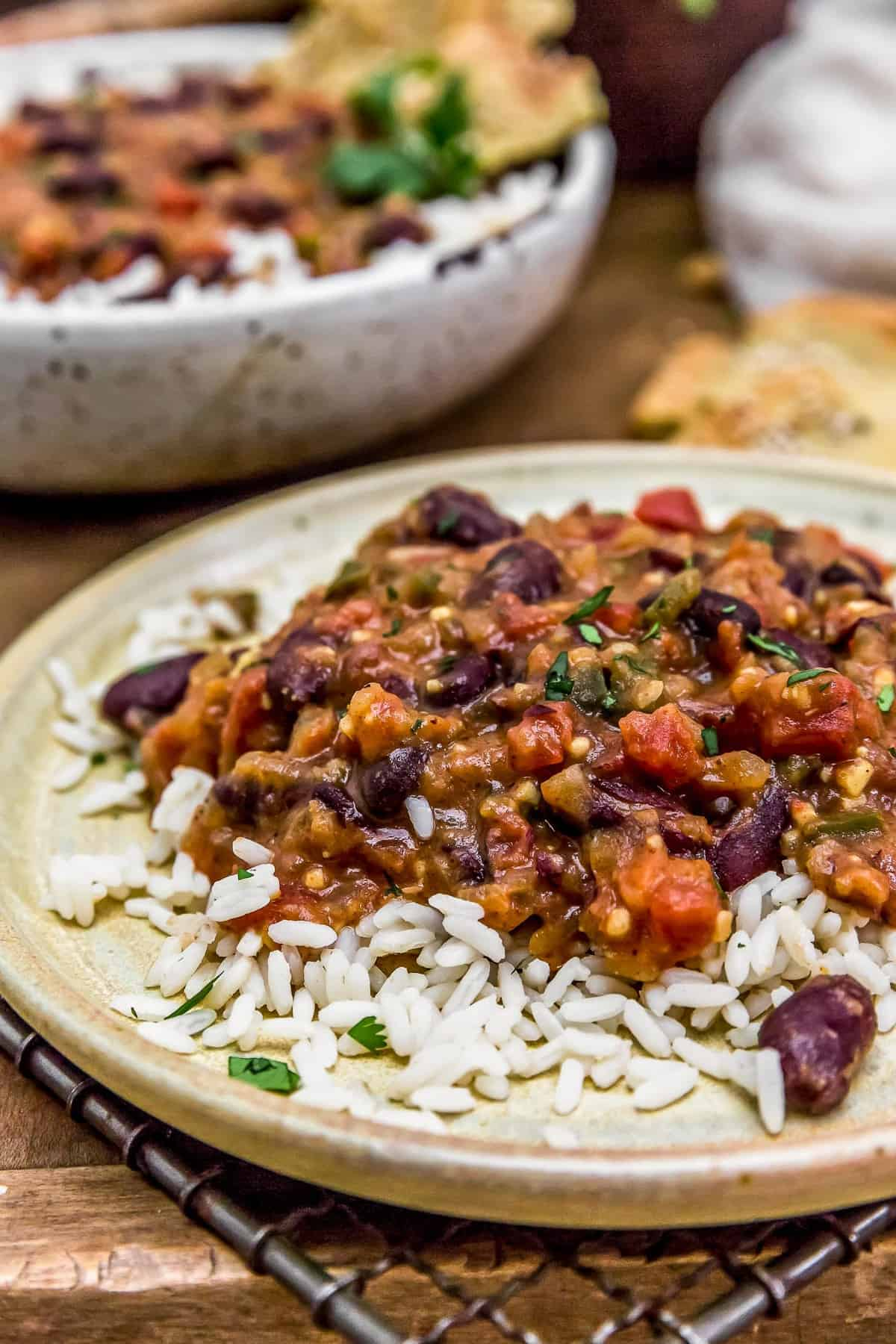 Plated Easy Kidney Bean Curry
