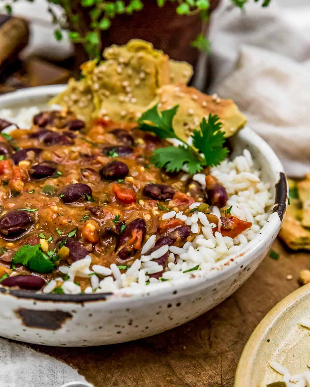 Easy Kidney Bean Curry with rice