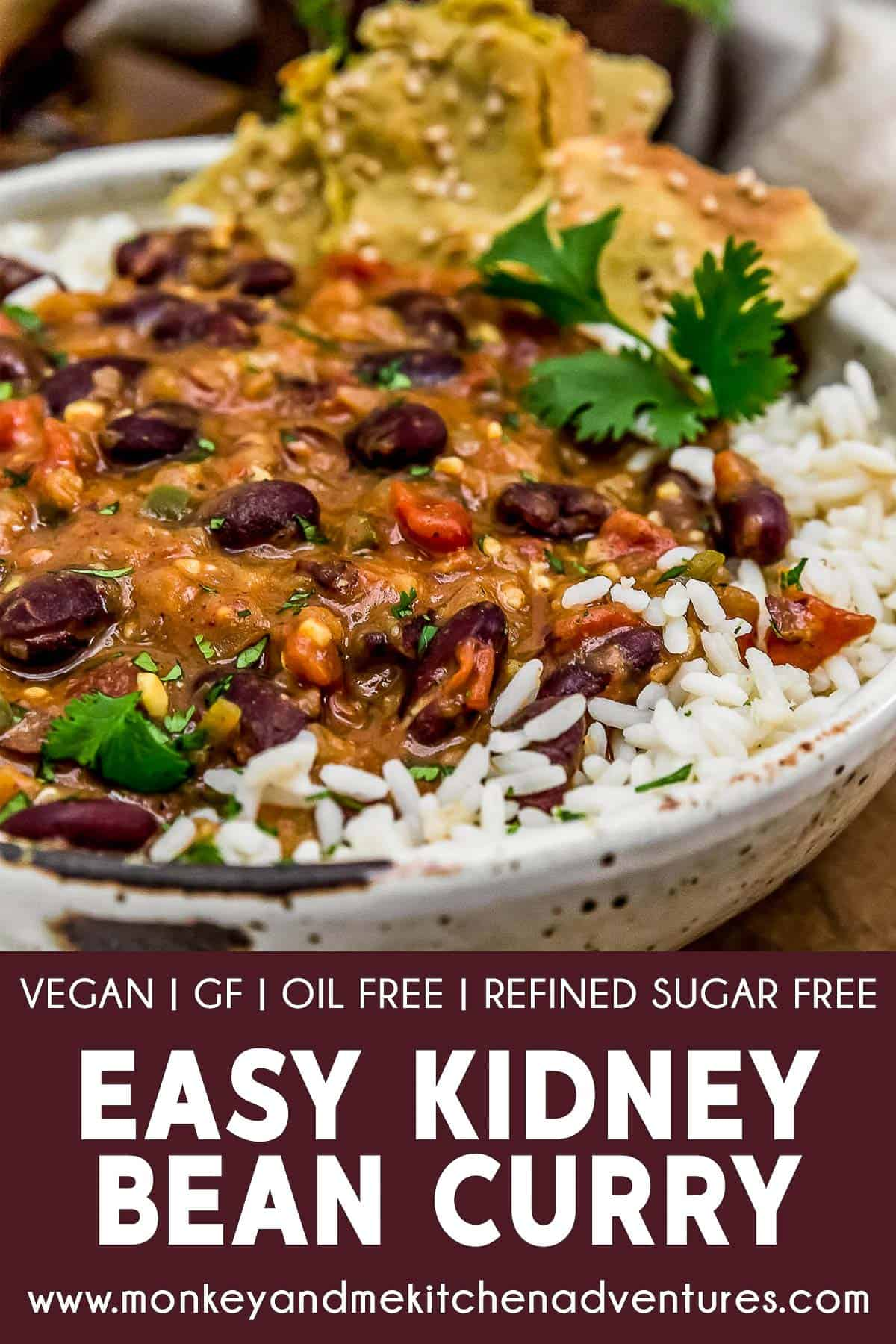 Easy Kidney Bean Curry with text description