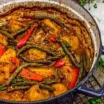 Italian Braised Green Beans and Potatoes