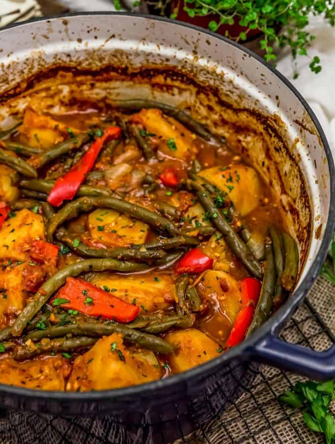 Italian Braised Green Beans and Potatoes